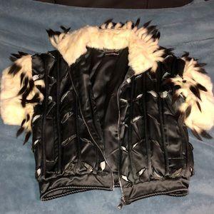 D&G fur vest.